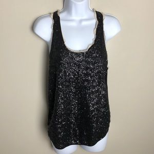 Aritzia Wilfred Black Sequin Blouse Size XS